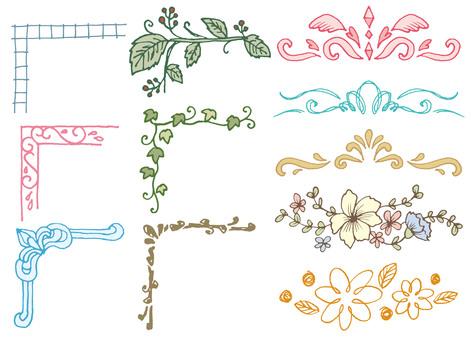 Handwritten Elegant Plant Frame
