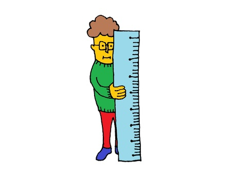 Measure with a ruler! / png transparent background