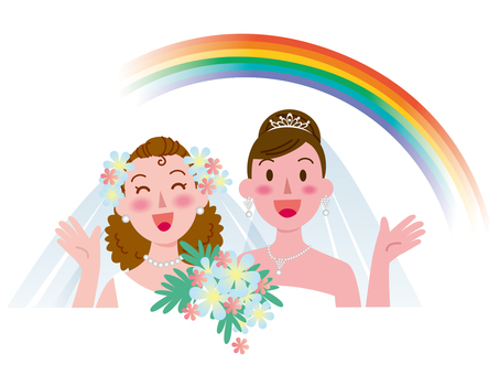女性同士の結婚-虹1