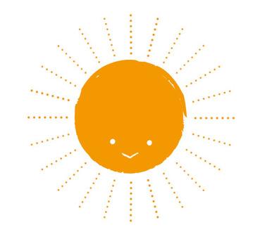 Hand-painted sun