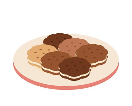 접시에 오른 쿠키