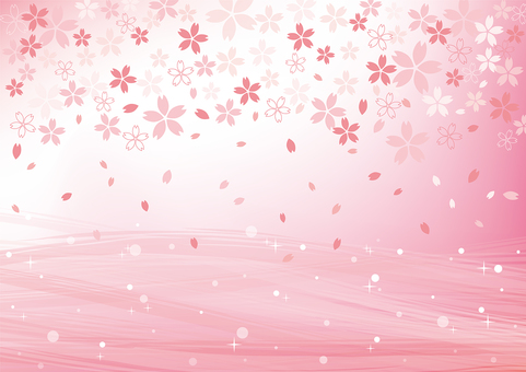 Sakura Pattern Background 02