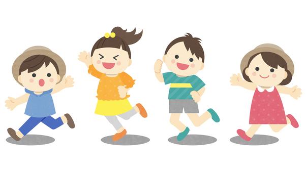 夏_子供_遊びのイラスト