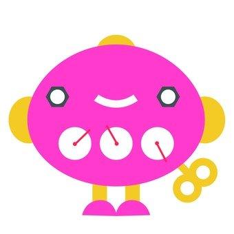 Pink Round Robot