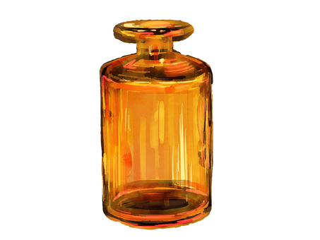 Small bottle of glass
