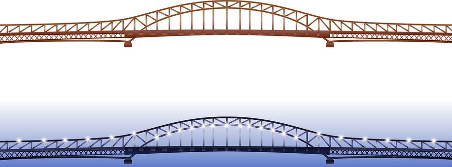 ai Suspension bridge for 2 day background / wallpaper / frame