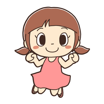 Illustration of jumping girl