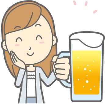 여대생 a- 맥주 미소 - 가슴