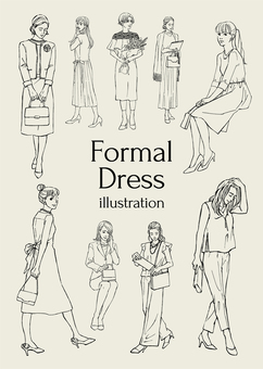 Formal dress illustration