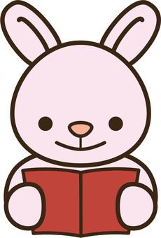 本を読むうさちゃん