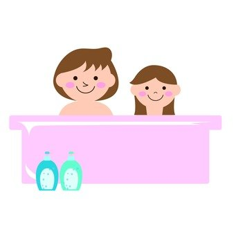 Maternal and child's bath time