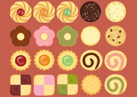 Cookie illustration set