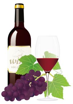 Wine bottle_ red