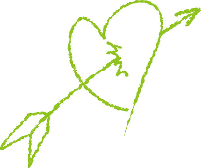 Heart with arrows (yellowish green)