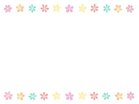 Water color flower frame B 2