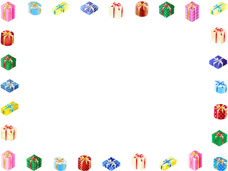 ai Gift box frame, background, wallpaper