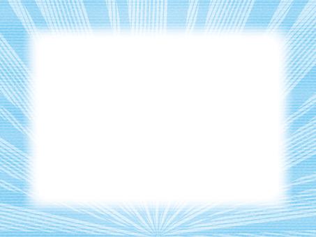 寬框架(22)太陽地平線藍色