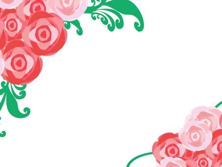 薔薇のフレーム