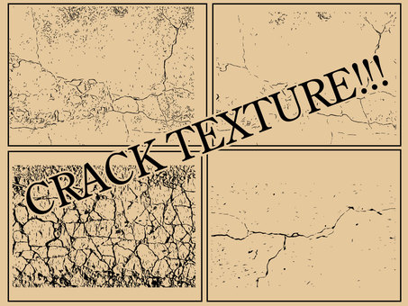 Crack crack texture set