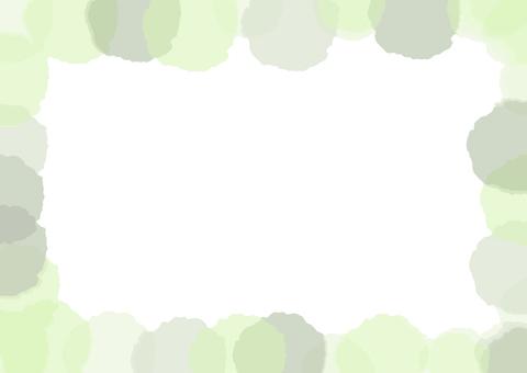 Watercolor-like frame (green)