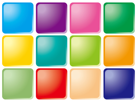 web · material button (colorful square)