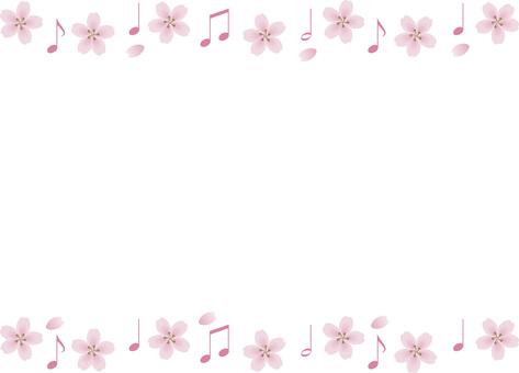 Cherry blossom note frame