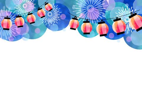 계절 소재 019 여름 축제 프레임