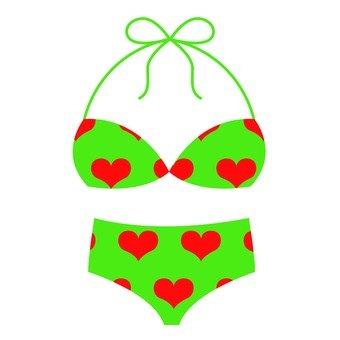 Heart pattern bikini