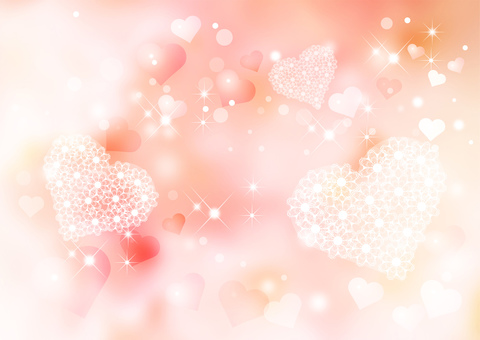 Heart _ pink _ pale background