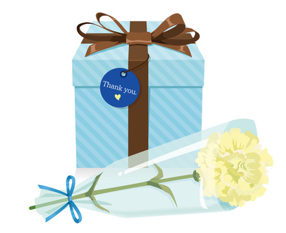 Carnation and gifts blue 02