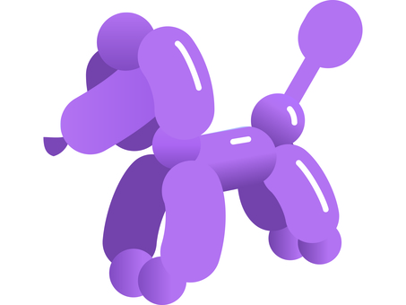 Balloon art dog 3