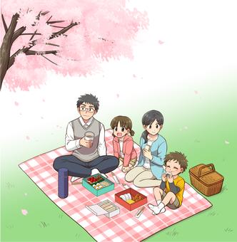 가족 소풍 / 꽃놀이