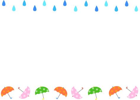 Rain umbrella frame