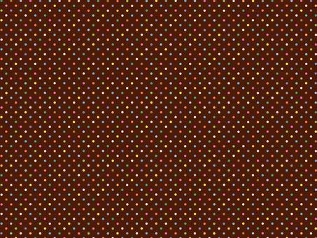 Colorful dot pattern brown