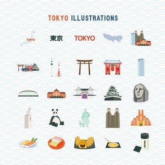 도쿄의 일러스트