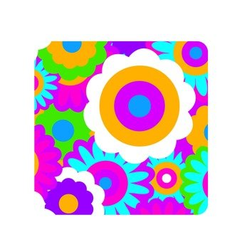 Flower pattern / colorful 1