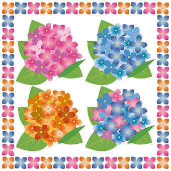 Hydrangea set (four colors)