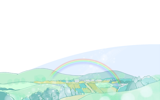 A landscape with a rainbow