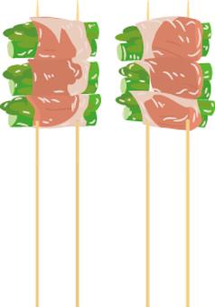 Food Series Yakitori Asparagus Bacon