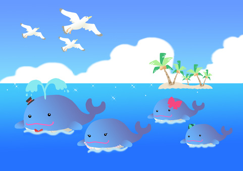 The family of the whale