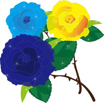 장미 꽃 (파랑 계열)
