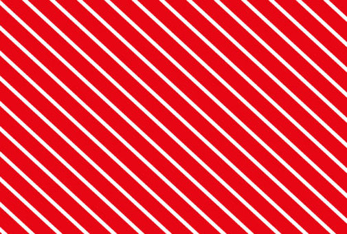Diagonal stripes of red and white wallpaper