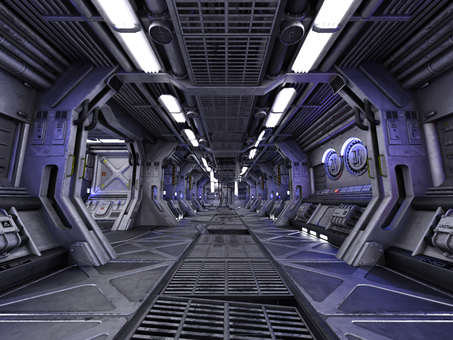 Passage in the spacecraft after a bright accident