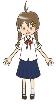Girl (photoshop line drawing)