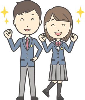高中生男性和女性設置-018-全身