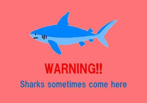 鯊魚侵擾的海報