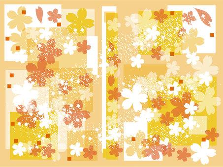 Sakura background gold