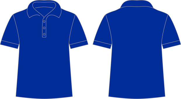 Polo shirt _ front / back _ blue