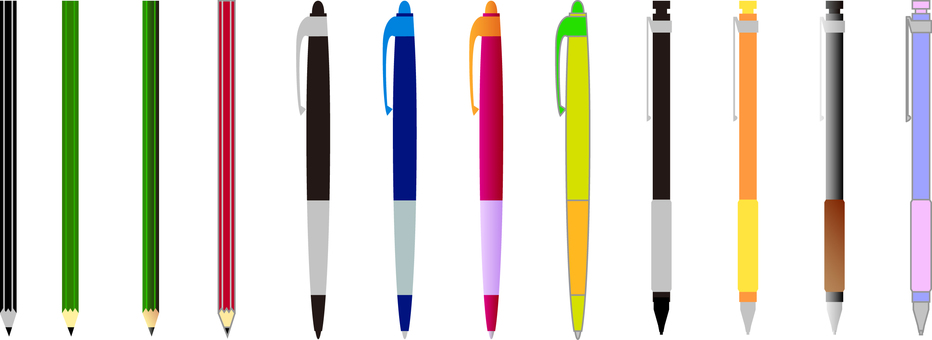 Various kinds of embroidery pens