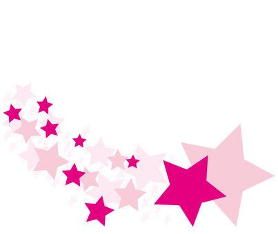 Pink shooting star